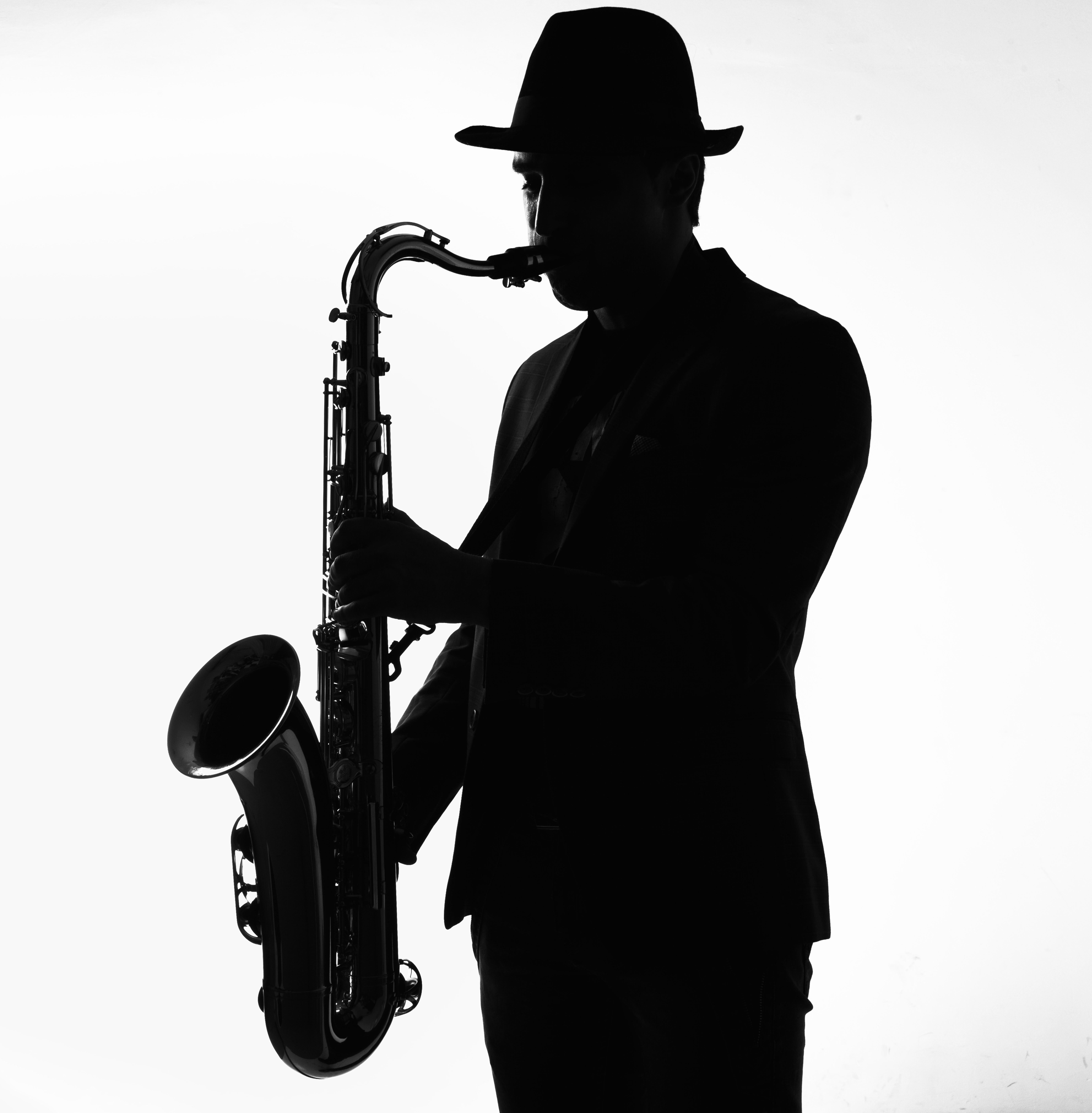 saxofonist-silhouet
